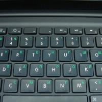 Печать на клавиатуре ноутбука (без извлечения клавиатуры)