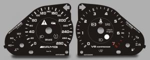 Изготовление панели приборов на автомобиль Mersedes AMG