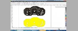 Отрисовка панели приборов (тахометр) в векторном формате