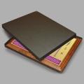 Плакетка на деревянной основе — полноцветная печать, металл, коробка