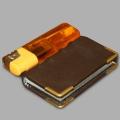 Фотокнига карманная 4,5х7,5см, натуральная кожа (8 разворотов)